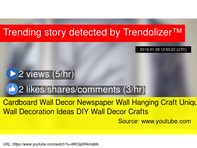 Cardboard Wall Decor Newspaper Wall Hanging Craft Unique Wall