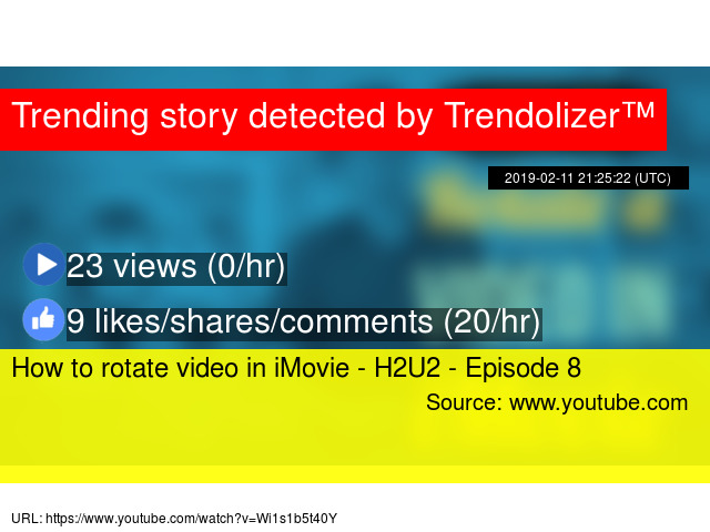 How to rotate video in iMovie - H2U2 - Episode 8