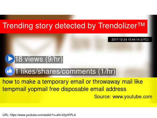 how to make a temporary email or throwaway mail like tempmail