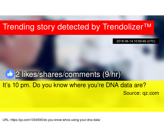 it s 10 pm do you know where you re dna data are