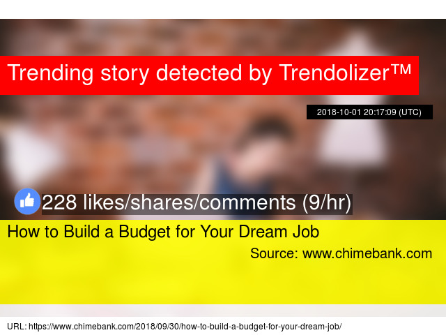 how to build a budget for your dream job